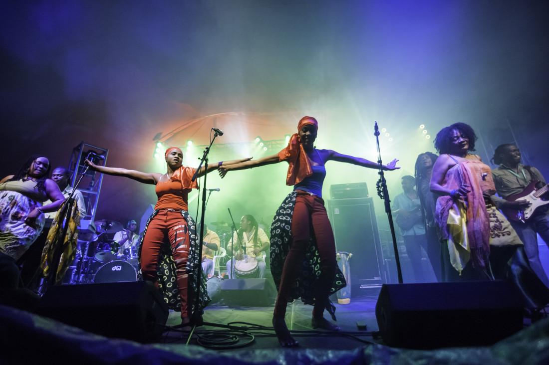 Dancing With Haitians At La Fete De >> Song Percussion And Dance Workshops With Boukman Eksperyans